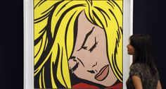 Andy Warhol, Jasper Johns, Tom Wesselmann and Roy Lichtenstein represent the colossuses of the Pop Art Movement which started in the Controversy always surrounds artists, but nothing compares with how the critique welcomed Lichtenstein's work. Roy Lichtenstein Pop Art, Jasper Johns, Wassily Kandinsky, Andy Warhol, Rembrandt, Comic Books Art, Comic Art, Book Art, Illustration Pop Art
