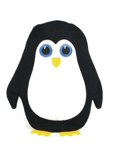 #PenguinHotWaterBottle This cute #penguin hot water bottle is a fun and practical way to keep warm and cosy. The soft knitted cover features an embroidered penguin design. The reverse has a velcro fastening for quick and easy access. Kids (& adults) will adore this cute penguin character to snuggle up with at bedtime or when feeling under the weather. Capacity: 750ml Dimensions: 27cm x 17cm approx