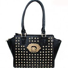 Betty Boop® Rhinestone & Stud Croco Tote Handbag – Handbag Addict.com