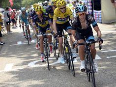 Tour de France 2013_Ét. 15_A searing pace from Richie Porte finally broke apart the lead group. (teamsky.com)