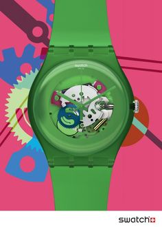 #Swatch Green #Lacquered