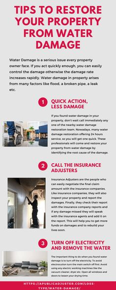 Tips To Restore Your Property From Water Damage In 2020 Water