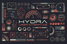 Hydra is a futuristic UI kit with tons of elements, graphs, HUDs, infographics and more. It comes in 3 premade color themes. Everything is vector and fully editable. Hydra also includes my