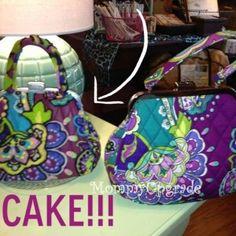 Vera Bradley cake - looks just like the purse!