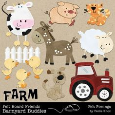Felt Board Friends: Barnyard Buddies