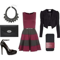Winter party outfit with skater dress