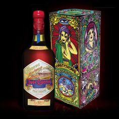 Jose Cuervo's tattooed bottles. Love the motif. Great colors IMPDO