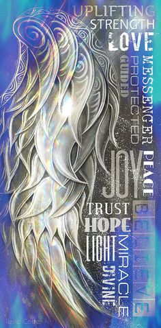 Angel Wing Wordart Blue Art Print by Reina Cottier. All prints are professionally printed, packaged, and shipped within 3 - 4 business days. Choose from multiple sizes and hundreds of frame and mat options.