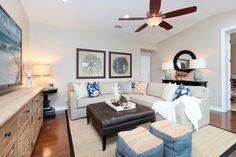 San Clemente I - beach-style - Family Room - Orange County - Blackband Design