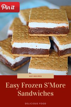 Easy Frozen S'More Sandwiches Grill Sandwich, Croissant Sandwich, Gourmet Sandwiches, Party Sandwiches, Salami Sandwich, Hummus Sandwich, Reuben Sandwich, Bagels Sandwich, Mozzarella Sandwich