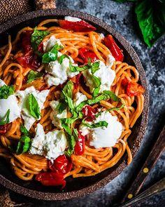 Tomato Pasta With Burrata And Basil via @feedfeed on https://thefeedfeed.com/alenafoodphoto/tomato-pasta-with-burrata-and-basil