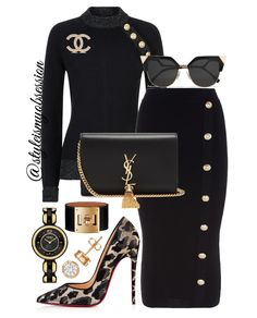 Black Leopard Keep classy and sassy with today's black and leopard print outfit idea. Click the 🔗 in our bio for full outfit details, including shopping links and Look For Less options. Work Fashion, Fashion Looks, Fashion Outfits, Womens Fashion, Fashion Trends, Fashion Images, Fashion Ideas, Fashion Quotes, Style Fashion