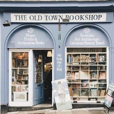 — The Old Town Bookshop Book Aesthetic, Aesthetic Pictures, Library Books, Dream Library, Store Fronts, Ravenclaw, Love Book, Art And Architecture, Old Town