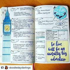 Look kids! Big Ben, Parliament. Can you name that movie? Beautiful #illustration from @doodledaydarlings. #Repost @doodledaydarlings (via @repostapp) ・・・ This week all done! On to the next layout! :muscle