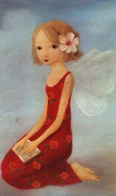 Fee by Stephen Mackey) Stephen Mackey, Kobold, Beautiful Fairies, Beautiful Things, Flower Fairies, Fairy Art, Magical Creatures, Whimsical Art, Book Illustration