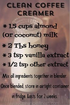 Clean Coffee Creamer                                                                                                                                                      More