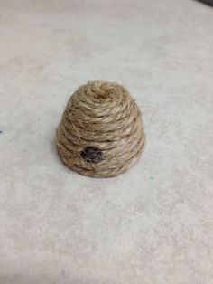 Sweet little beehive made for a fairy garden from twine