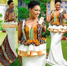 Fabulous ANKARA KITENGE design 2020 for the wedding will be the best to rock that Owambe party you intend going. African Print Dresses, African Print Fashion, African Fashion Dresses, African Dress, African Wedding Attire, African Attire, African Wear, African Style, Sotho Traditional Dresses