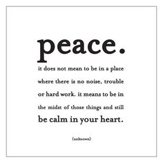 peace. by Quotablecards