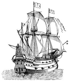 Cool black and white Galleon found on the Internet. Would make a good tattoo if done well.
