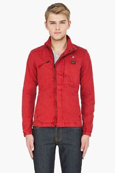 cdd62cd7562f G-Star is a favorite brand of mine... I like the slim fit to the button up  and zip option top with the pop bright fire engine red!  190.00 CAD
