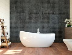 Luxe wallpaper for both normal walls as wet areas as sauna and bathroom and shower by TecnoGrafica Italia. Mosaic Wallpaper, Custom Wallpaper, Designer Wallpaper, Sound Proofing, Tecno, Art Object, Engineered Wood, How To Take Photos, Mosaic Tiles