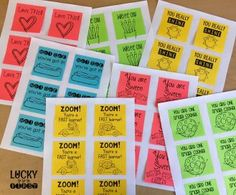 Printable Post-Its are an easy way to celebrate student behavior! Just print & keep in a folder to pull out when you want to recognize great behavior! | 6 Positive Ways to Build Students Up