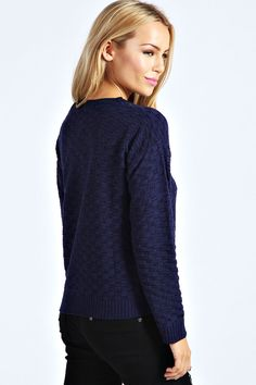 Teagan Checker Board Knit Jumper at boohoo.com. - £10.00 ❤️❤️