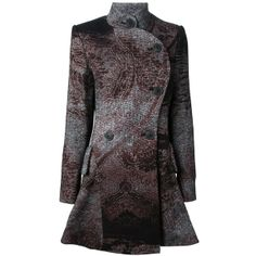 VIVIENNE WESTWOOD ANGLOMANIA printed coat ($770) found on Polyvore