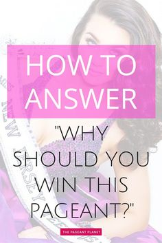 This is one of the most common questions that pageant interview judges like to… Beauty Pageant Questions, Pageant Interview Questions, Pageant Tips, Teen Pageant, Pageant Hair, Girls Pageant Dresses, Pageant Gowns, Junior Miss Pageant, Pageant Quotes
