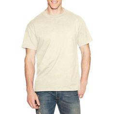 Hanes Men's Beefy Short Sleeve T-shirt, Size: XL, Beige