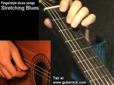 Stretching Blues - fingerstyle + TAB! Acoustic guitar lesson