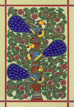 Shop unique, award-winning Artisan treasures by NOVICA, the Impact Marketplace. Each original piece goes through a certification process to guarantee best value and premium quality. Madhubani Paintings Peacock, Peacock Painting, Madhubani Art, Indian Paintings, Indian Folk Art, Indian Artist, Traditional Paintings, Traditional Art, Principles Of Art