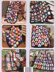 free scrap knit and crochet patterns | Scrap Squares Rug – Christmas Crafts, Free Knitting Patterns, Free