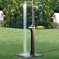 Enjoy a refreshing outdoor shower in your own yard with a DIY unit thats easy to set up.
