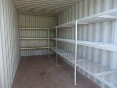 Tiger containers has just made and installed shelving down one side of a shipping container, with Steel mesh tops. In the rear of the container we have also added Timber based shelving.