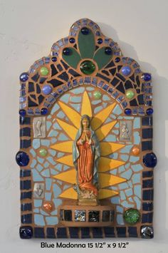 Cindy Duff blue madonna N.M.~~Like the tile...have the perfect space for this!!