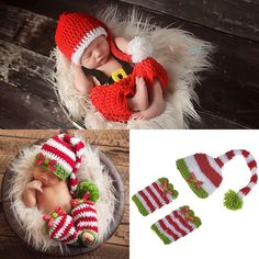 2017 Christmas Baby Photography Props Cute Crochet Knit Costume Prop Outfits Newborn Baby Christmas Outfits Baby Girls Outfits //Price: $7.99 & FREE Shipping //     #hashtag1