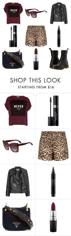 """Sem título"" by jessblock on Polyvore featuring moda, Pull&Bear, Christian Dior, Etro, RED Valentino, H&M, MAC Cosmetics, Prada e Dr. Martens"