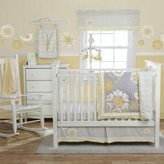 """baby girl, grey white yellow    MiGi Sweet Sunshine 3 Piece Crib Bedding Set - Bananafish - Babies """"R"""" Us"""