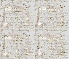 French_Script_grays_and_French_postage fabric by karenharveycox on Spoonflower - custom fabric