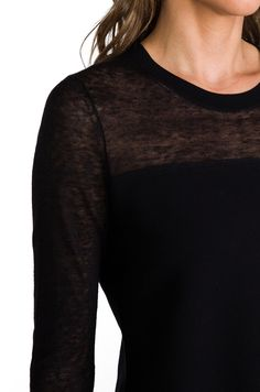 Theory Enchanted Ofenia Sweater en Noir | REVOLVE