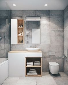 Choosing the Right Bathroom Vanity Large Bathrooms, Rustic Bathrooms, Modern Bathroom, Small Bathroom, Master Bathroom, Loft Interior, Bathroom Interior Design, Contemporary Living Room Furniture, Modern Furniture