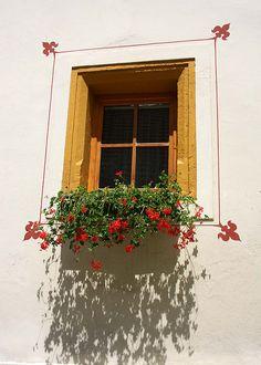 Window, Austria by chrisotb, via Flickr