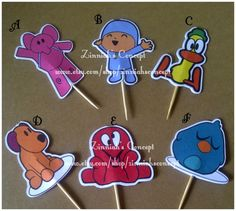 12 POCOYO TOPPERS by ZinniahsConcept on Etsy, $3.50