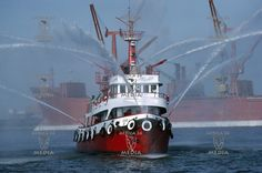 Sabil,the famous fire fighting vessel of the port.