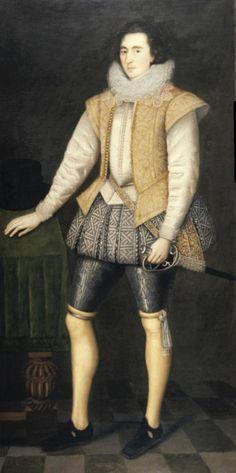 17th c Janssen van Ceulen - Portrait Of George Villiers, Duke Of Buckingham