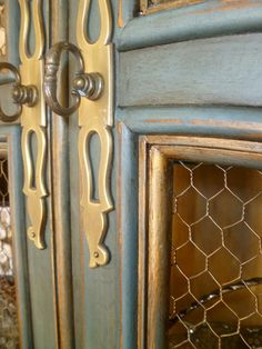Aubusson Blue with Duck Egg, gold accent & French Linen inside