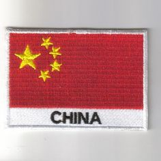 FLAG PATCH PATCHES China IRON ON COUNTRY EMBROIDERED WORLD FLAG