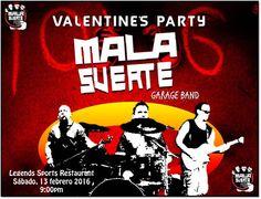 Valentine's Party con Mala Suerte Garage Band #sondeaquipr #malasuertegarageband #legendssportsrest #sanjuan